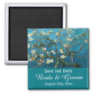 Save the date, famous fine art square magnet