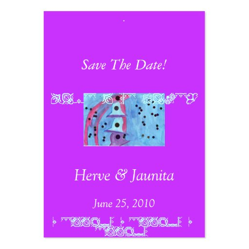Save The Date Fancy Card Business Cards