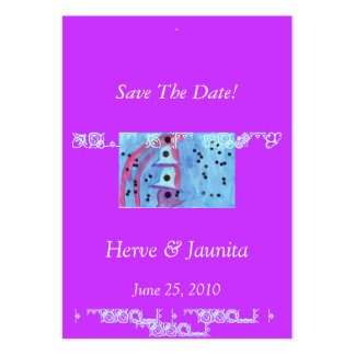 Save The Date Fancy Card Pack Of Chubby Business Cards