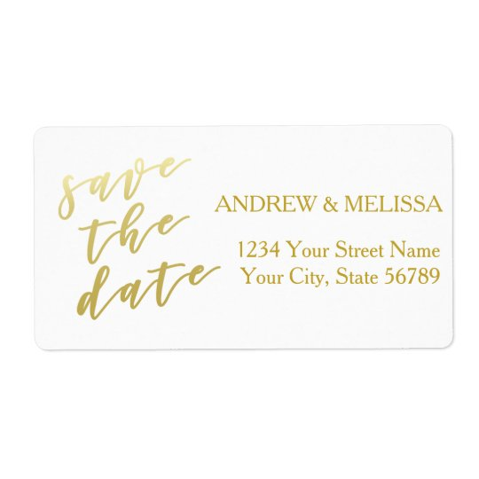 Save the Date | Faux Gold Script