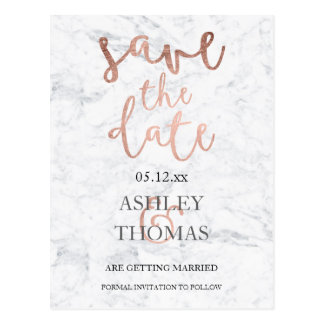 Gold Save The Date Postcards | Zazzle.com.au