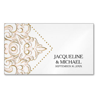 Save the Date Favors Bride n Groom Engagement Magnetic Business Cards