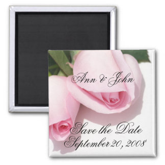 Save the Date First Names Roses Magnet