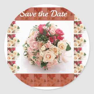 Save the date- Floral Round Sticker