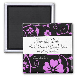 Save the date - Floral Wedding Magnet