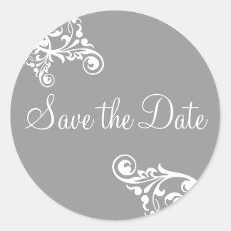 Save the Date Flourish Envelope Sticker Seal