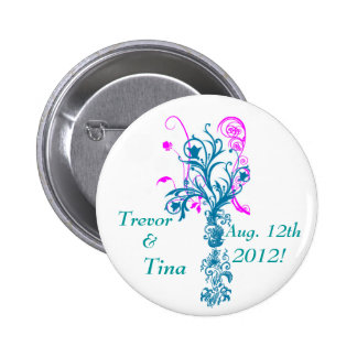 Save The Date Flourishing Dreams Small Round Pin