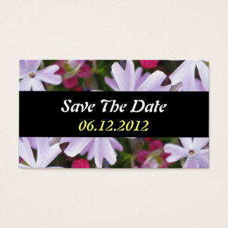 Save The Date Flower Business Card