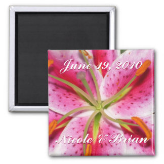 Save the Date Flower Explosion Magnet #2