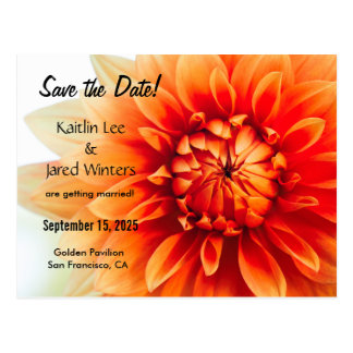Save the Date Flower Postcard - New version