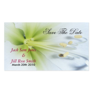 Save The Date flower wedding cards Business Card