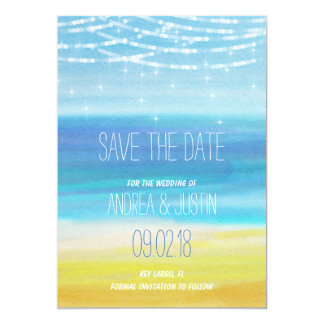 Save the Date for a Beach wedding Card