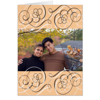 Save the Date for an Autumn Wedding Greeting Card