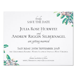 Save the Date for Julia & Andrew Card