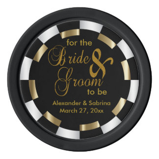 Save the Date for the Bride and Groom Poker Chips