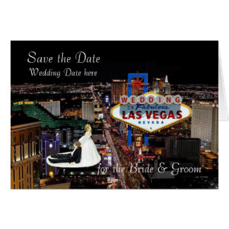 Save the Date for the Bride & Groom Wedding In Las Greeting Card