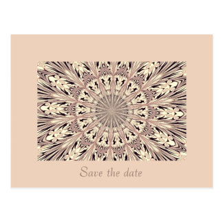 Save the date - Fractal / Mandala Post Cards