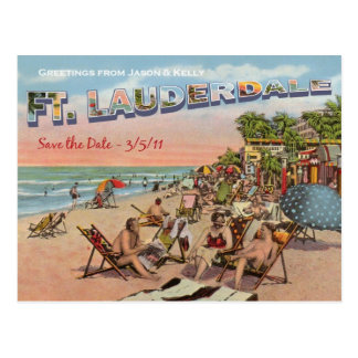 Save the Date - Ft. Lauderdale Postcard