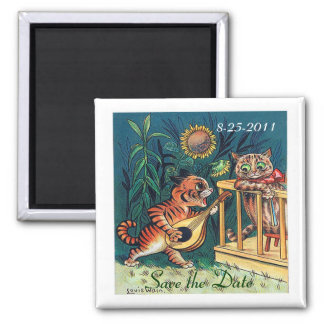 Save the Date Funny Cats Wedding Magnet