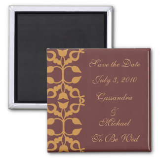 Save the Date Gold Scroll Magnet