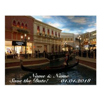 Save the Date Gondola Ride, The Venetian Postcard