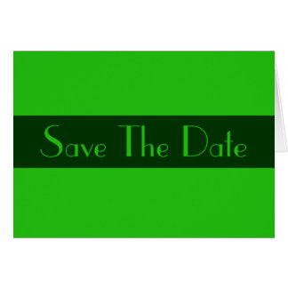 Save the Date Green color Note Card