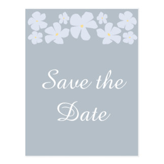 Save the Date Grey Jasmine Wedding Postcards