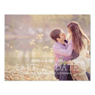 Save the Date | Grey Stripes 11 Cm X 14 Cm Invitation Card