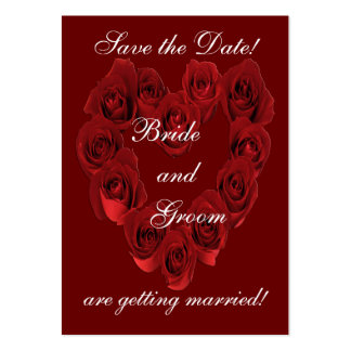 Save the Date - Heart of Red Roses.. Business Card Template