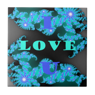 Save The Date I Love You.png Small Square Tile
