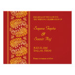 Save The Date Indian Style Card Custom Announcements