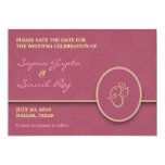 Save The Date Indian Style Flat Card Invites