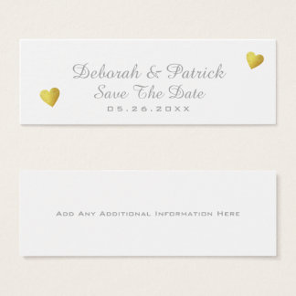 save the date insert-card . wedding white mini business card