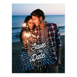 Save the Date Insert Your Own Photo Postcard