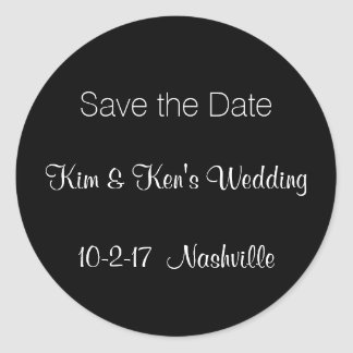 Save the Date Invitation Stickers