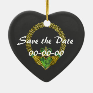 save the Date Irish Claddagh ornament