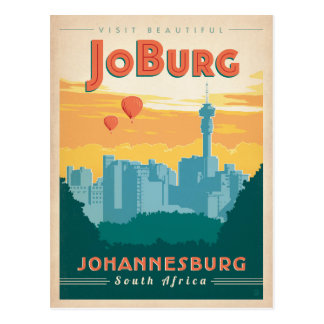 Save the Date | JoBerg, South Africa Postcard
