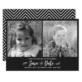 Save the Date, Kids Getting Married, Photo Card