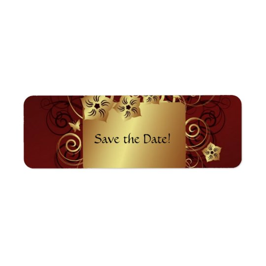 Save the Date Label - Gold
