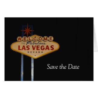 Save the Date Las Vegas Card