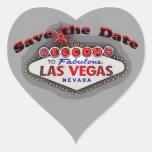 Save the Date Las Vegas silver heart Sticker