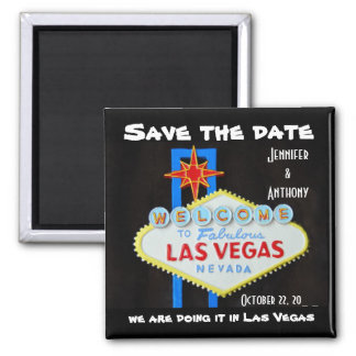 Save the Date Las Vegas Wedding Magnet