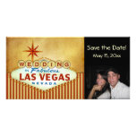 Save the Date Las Vegas Wedding Photocard Photo Card