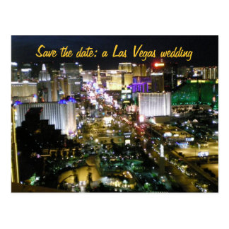Save the Date Las Vegas Wedding Plans Postcard