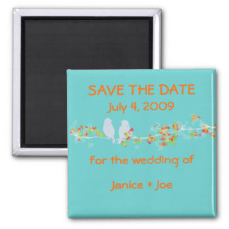 Save the Date love birds magnet