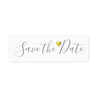Save the Date love weddings Return Address Label