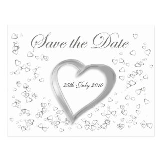 Save the Date Lovehearts Postcard