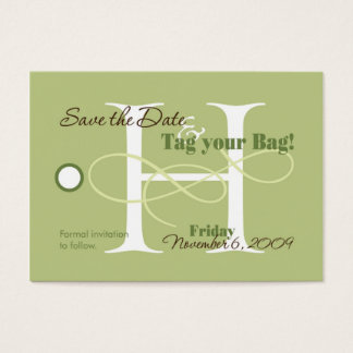 Save the Date Luggage Tag Business Card