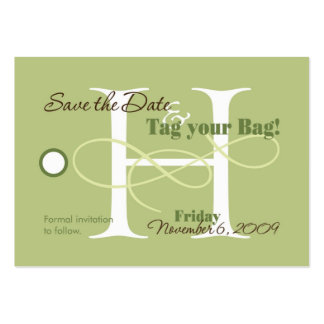 Save the Date Luggage Tag Business Cards