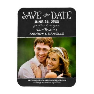 Save the Date Magnet Black Chalkboard Magnets